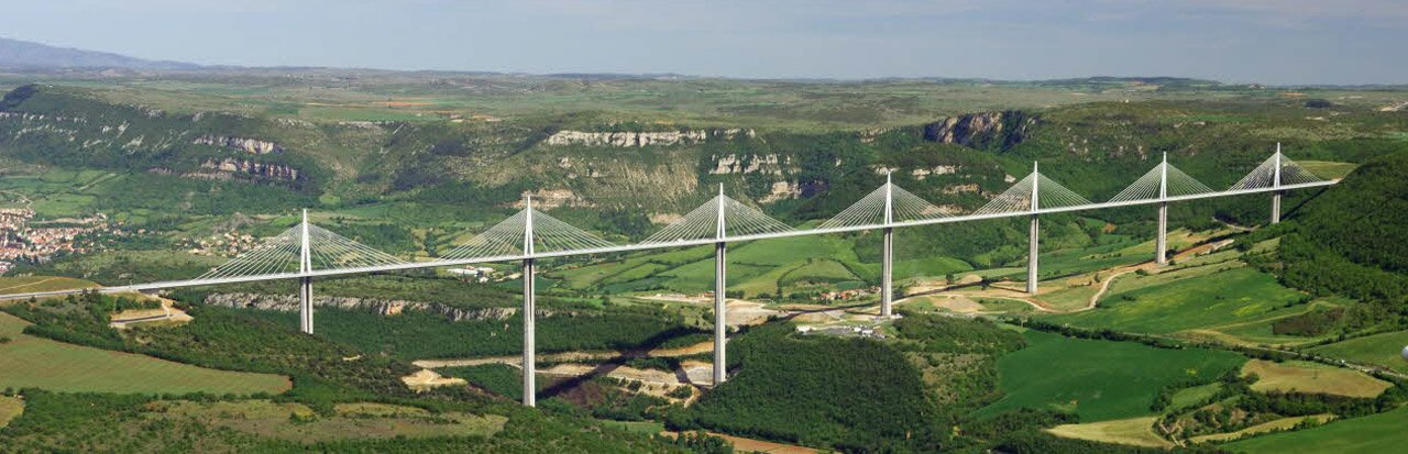 Millau Viaduct, in the heart of the Côtes de Millau IGP region (Aveyron)