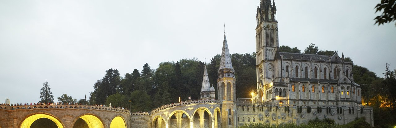 The sanctuaries of Lourdes (Hautes-Pyrénées)